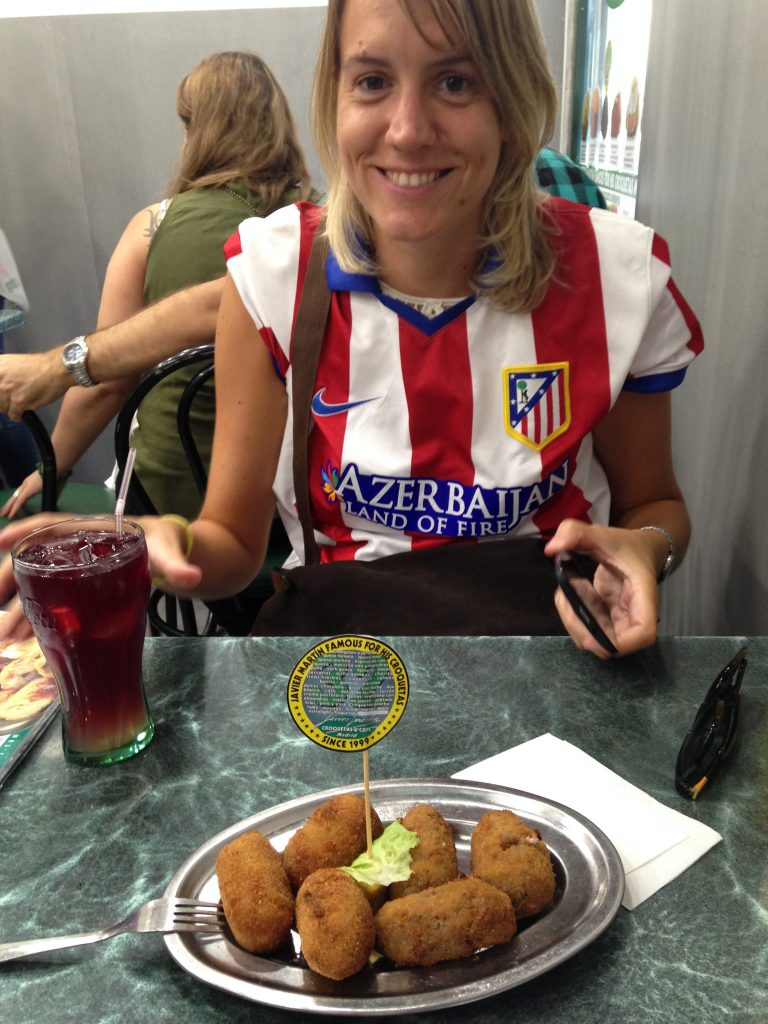Maria and our order of croquetas