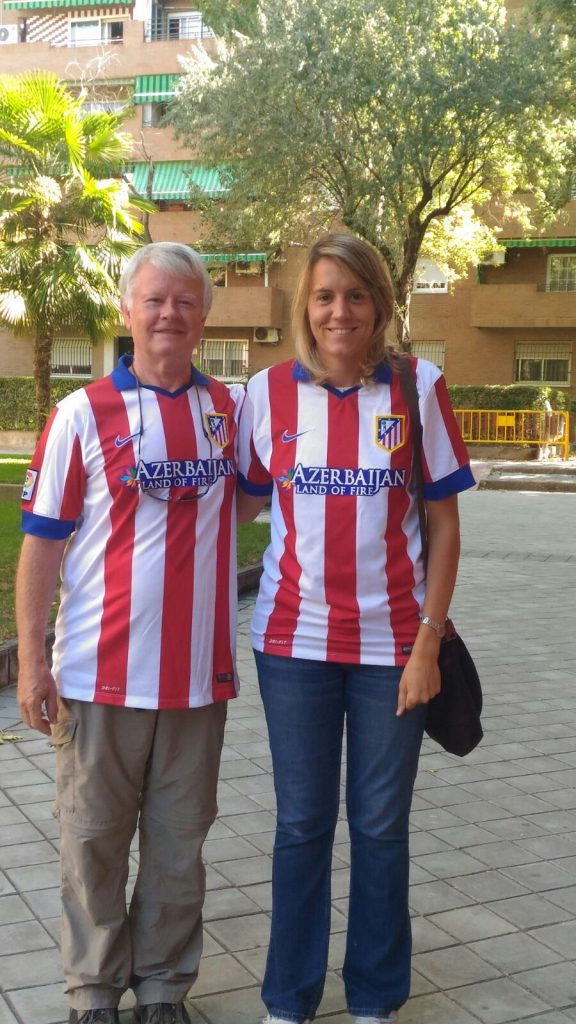 Atletico fans ready for the game!
