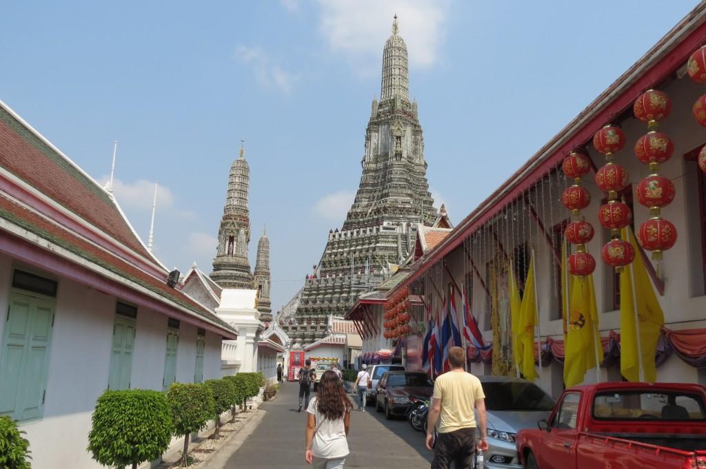 Approaching Wat Arun