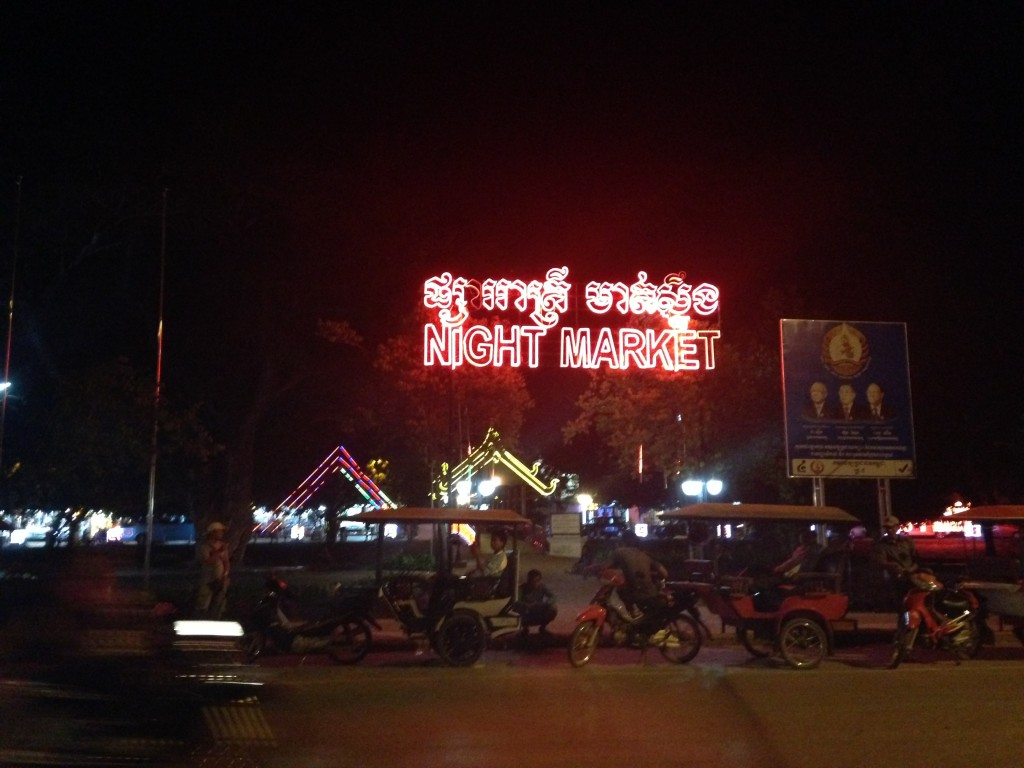Siem Reap teems with international tourists.  The night scene offers many restaurants and shops