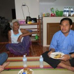 Jason and his Mother Serving Lunch for us at his Home