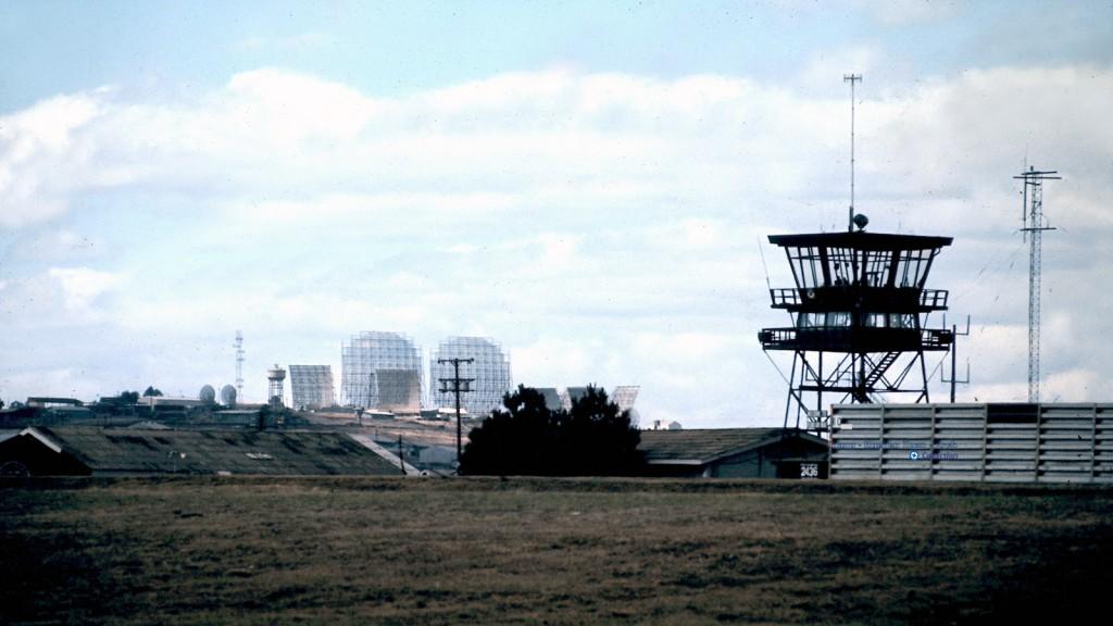 """""""Tropo Hill"""" as seen from Pleiku Air Base"""
