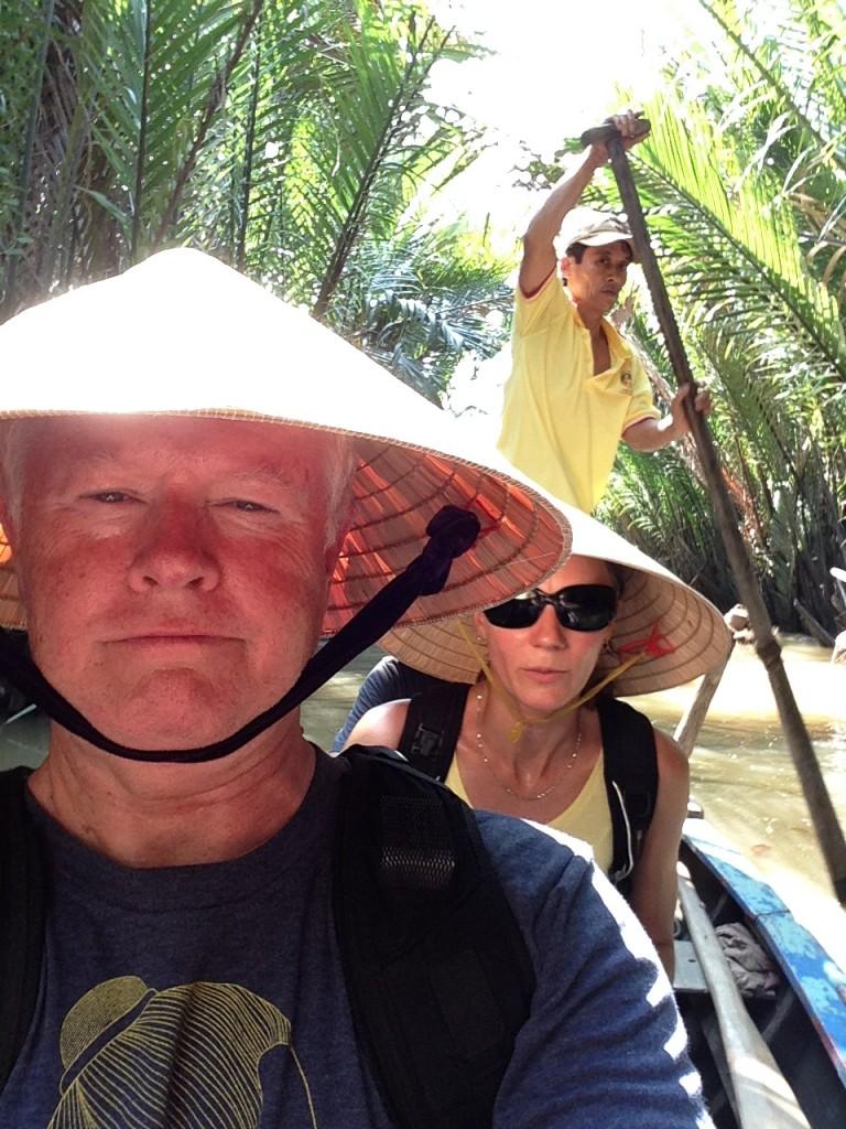 Short cruise on a quiet stream near Upper Mekong River