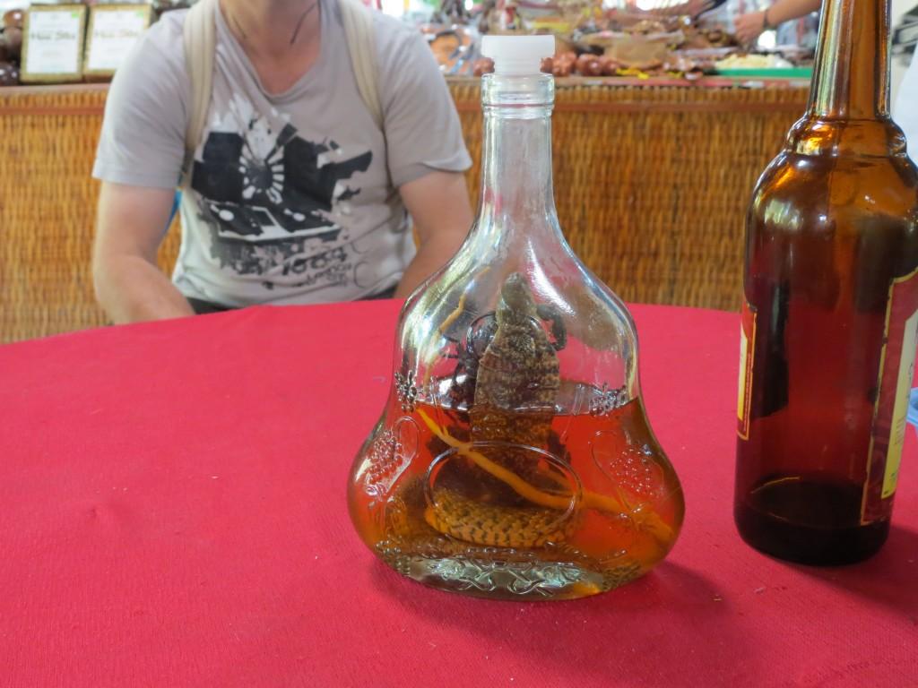 Snake (cobra) wine (none for me, thanks)