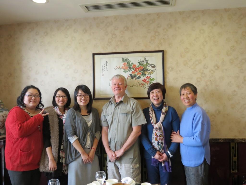 Xu Bo Shanghai Staff Luncheon: Angela, Athena, Summer, John, Ms. Chen, Ms. Sun