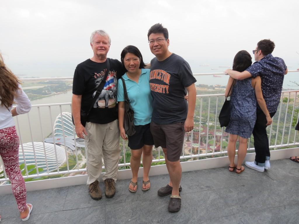 John, Jessie, & Frank at top of Marina Bay Sands