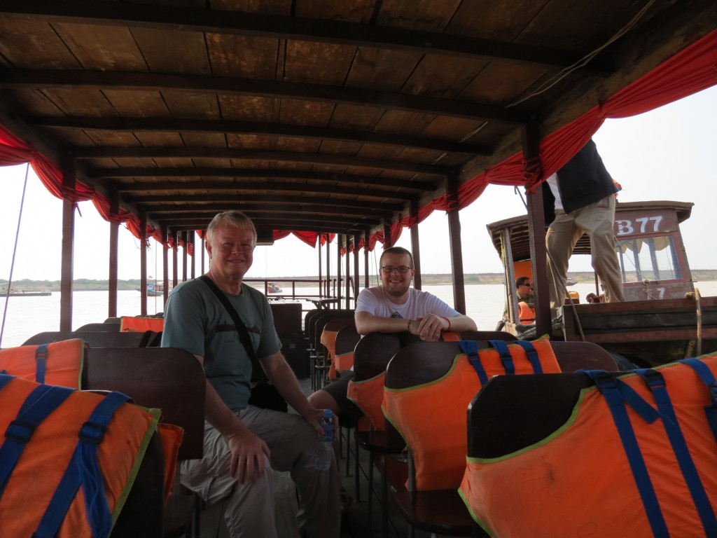 Our private boat for touring the floating village at Tonle Sap Lake