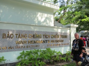 At the Ho Chi Minh City War Remants Museum