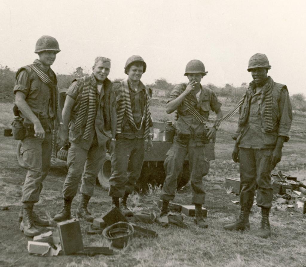 Firing Practice Outside Pleiku (John in center)