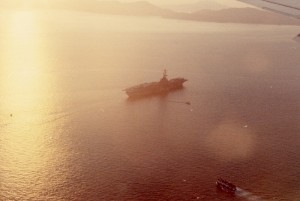 USS Hornet in Victoria Harbor, August 1969